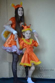 костюмы белочек для мамы и дочки фото