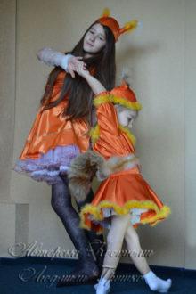 костюмы белочек для взрослых и детей фото
