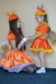 костюмы белочек для девочек фото