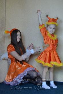 авторские карнавальные костюмы белочек фото