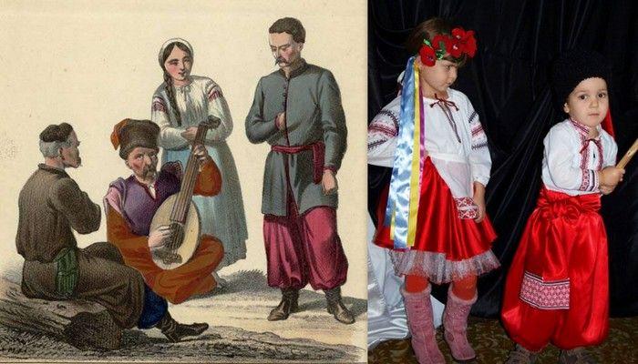 украинские национальные костюмы фото коллаж