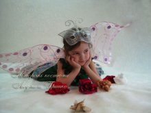 костюм дюймовочки с крыльями детский фото