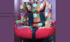 летний чехол на автокресло chicco фото