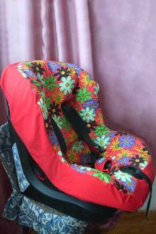 летний чехол на авто-кресло chicco фото бок