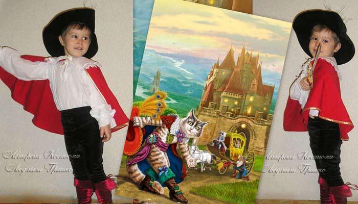 детский костюм кота в сапогах фото