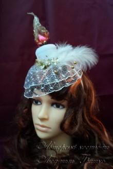 карнавальный аксессуар фото свеча шляпка с вуалью