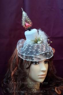 свеча шляпка с вуалью аксессуар ручного изготовления фото 601