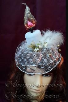 свеча шляпка с вуалью аксессуар ручной работы фото 632