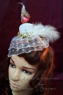 свеча шляпка с вуалью карнавальный аксессуар ручной работы фото 740