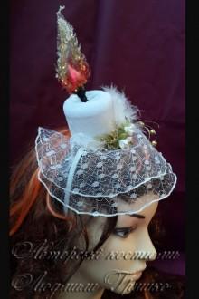 свеча шляпка с вуалью авторский аксессуар фото 754