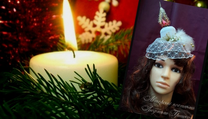свеча шляпка с вуалью аксессуары ручной работы фото коллаж 4