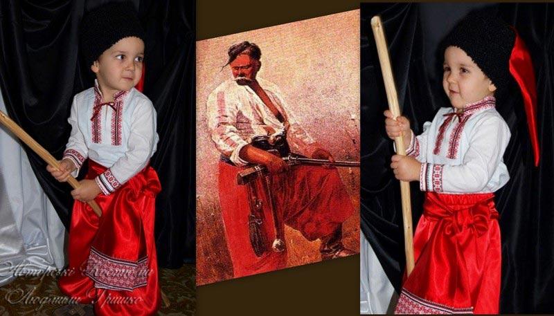 украинский костюм для мальчика фото коллаж с иллюстрацией