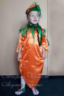 фото авторский карнавальный костюм морковки для девочки