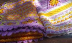 фото детский плед ручного вязания