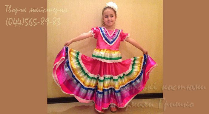 мексиканский костюм для девочки фото