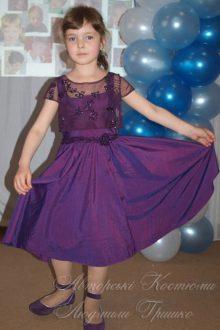 нарядное платье фото авторского наряда для девочки