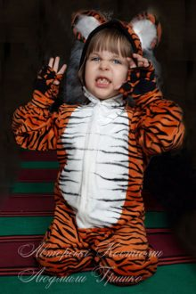 костюм тигренка на хеллоуин фото