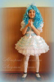 костюм Мальвины для девочки фото