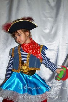новогодний костюм пиратки для девочки фото