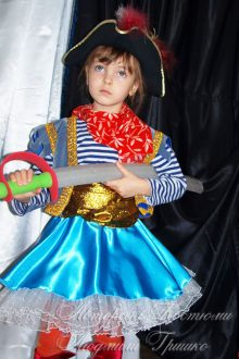 костюм пиратки для девочки на новый год фото
