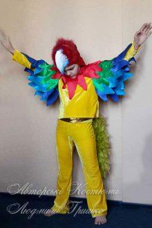 костюм попугая фото шапочка и воротник с крыльями