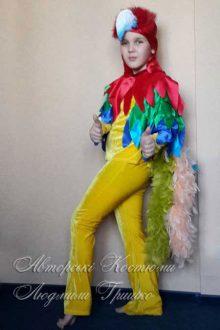 фото авторского карнавального костюма попугая