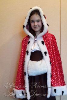 костюм Герды с муфтой фото в плаще накидке