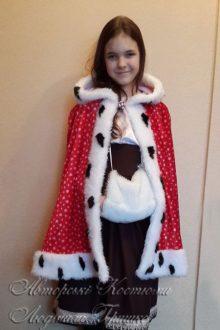 детский костюм Герды с муфтой и плащом фото