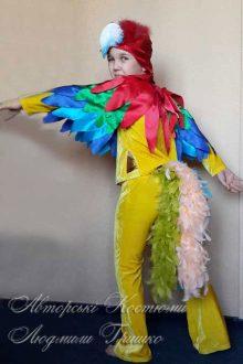 костюм попугая фото вид со спины