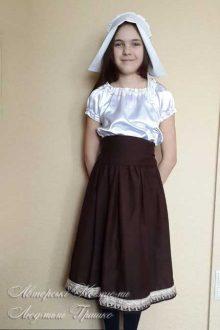авторский карнавальный костюм Герды для девочки фото