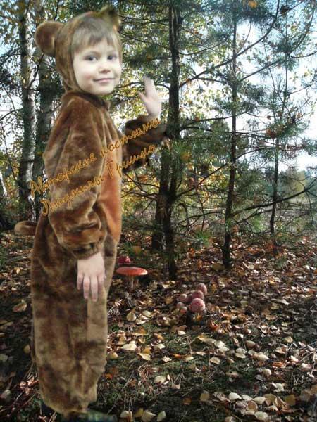 костюм медведя меховой рост 104-110 фото