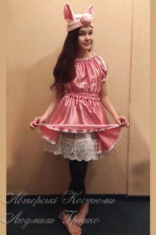 костюм поросенка для девочки фото с кружевным под юбником