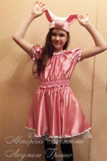 костюм поросенка для девочки фото в шапочке с ушками