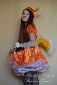 авторский костюм белки для девочки фото