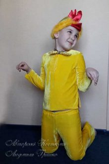 костюм цыпленка для мальчика на праздник осени фото