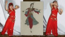 костюм восточной принцессы для девочки фото коллаж