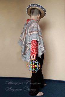 мексиканский костюм для мальчика фото вид со спины