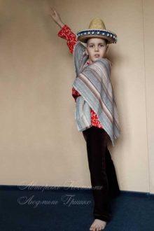 мексиканский костюм для мальчика фото в пончо