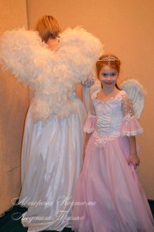розовый ангел фото взрослого и детского костюмов