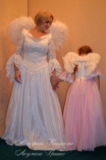 розовый ангел фото взрослого костюма и детского