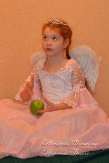 розовый ангел фото авторского карнавального костюма