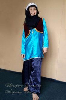 восточный костюм для мальчика фото в синих шароварах