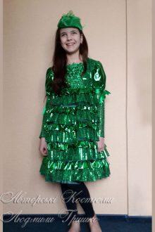 фото авторского костюма ёлочки для девочки