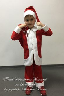 пошив карнавальных костюмов - санта фото костюма на мальчике