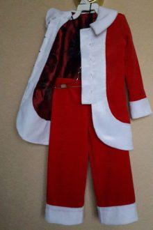 пошив карнавальных костюмов - санта фото подкладки