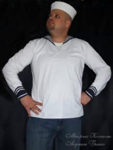 костюм моряка фото в белой панаме