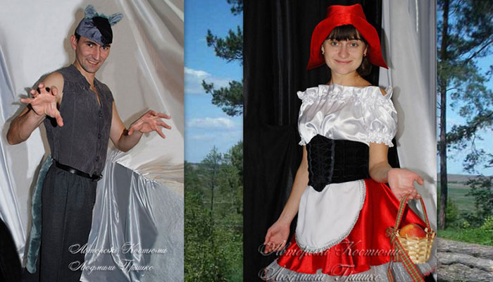 карнавальные костюмы для взрослых фото волк и красная шапочка