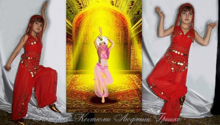 костюм для девочки к сказке о принцессе Лейле фото