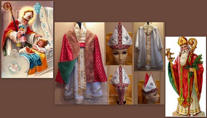 фото коллаж карнавальные аксессуары и костюм Св.Николая