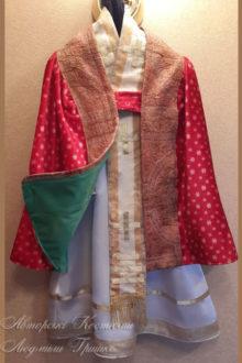 аксессуары для костюма Св.Николая фото плаща на зеленой подкладке